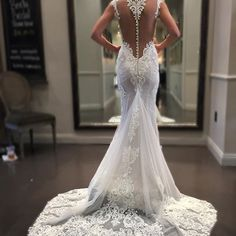 Sheer back wedding dresses with beaded lace detailing can be made by our design firm. We are near Dallas #Texas USA and offer brides from all over the country elegant custom #weddingdresses that are affordable. We can also make a replica of any dress in a picture. So if your bridal dream dress is out of your price range contact us at wwww.dariuscordell.com