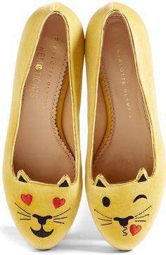 Charlotte Olympia LOL Kitty Flat (Women) available at #Nordstrom