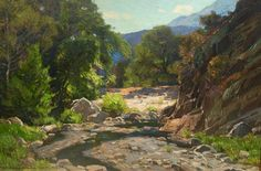 William Wendt (1865-1946) ~ Laguna Canyon -- oil on canvas, 20x30