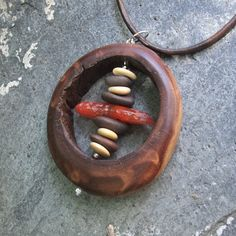 Joyería de madera piedra declaración por NaturesArtMelbourne