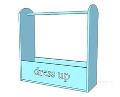 The dimensions for the dress-up storage idea... Maybe we really could make this?!?