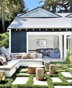 Take a look at all of the outdoor rooms nominated for this year's Australian House & Garden Top 50 Rooms competition. Outdoor Areas, Indoor Outdoor, Outdoor Decor, Outdoor Lounge, Outdoor Patios, Outdoor Sectional, Outdoor Seating, Outdoor Lighting, Pergola