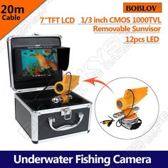 """216.03$  Buy now - http://alin2i.worldwells.pw/go.php?t=32754698769 - """"Free shipping!BOBLOV 20M 65ft 7"""""""" Underwater Camera 1000 TVL Camera Fish Finder for Underwater Exploration"""" 216.03$"""