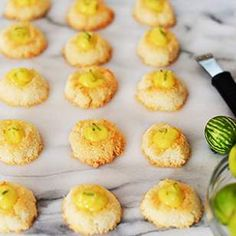 Coconut Macaroon Thumbprints with Key Lime Curd
