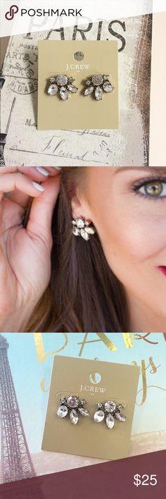 Lovely Jcrew earrings Cute crystal stud earrings from jcrew factory! J. Crew Jewelry Earrings