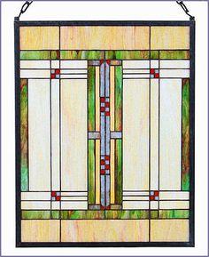 Mackintosh Design - Arts and Crafts Prairie Stained Glass Panel, $129.95 (http://www.mackintoshdesign.com/arandcrprart.html)