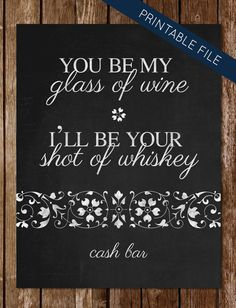 printable chalkboard sign for wedding cash by riverdesignstudio 500