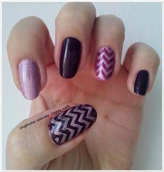 Unghiutze colorate-Happy nails: NOTD Purple Chervron Mani&Pedi