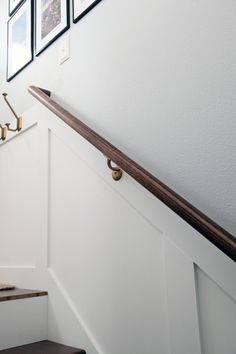 Finally! It is the word that I have been saying with a smile since we finished our most recent DIY. FINALLY! We have a stairway handrail!...