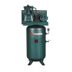 FS-Curtis 80 Gal. 7.5 HP 230-Volt 1-Phase Electric Air Compressor-FCA07E57V8S-A2L1XX - The Home Depot