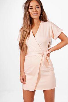 Petite Laura Obie Tie Wrap Dress