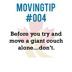 Before you try and move a giant couch alone....don't.  www.greatcanadianvanlines.com Moving Tips, You Tried, Couch, Green, Settee, Sofa, Moving Hacks, Couches, Sofas