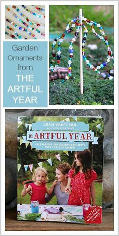 Make colorful beaded garden ornaments in this spring craft for kids from The Artful Parent!