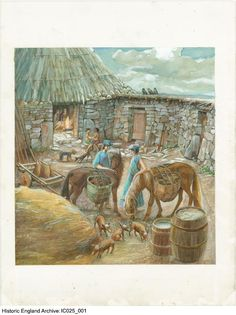 Historic England Archive Content Has Moved Iron Age, Historical Images, England, Houses, Collections, Search, Interior, Painting, Art