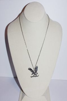 Men's Chain Necklace with Eagle Pendant Silver by SCLadyDiJewelry
