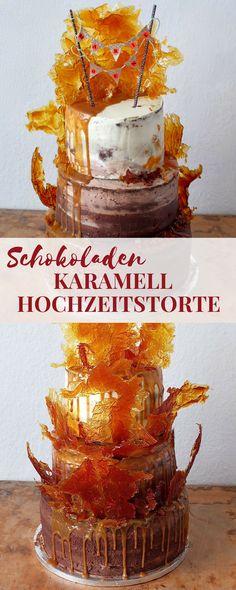 Schokoladenfans, aufgepasst! Hier kommt ein köstliches Rezept für eine Ombre Schoko-Karamell-Torte mit gerösteten Haselnüssen und einer tollen Karamelldeko.