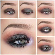 Eye Makeup Tips.Smokey Eye Makeup Tips - For a Catchy and Impressive Look Simple Eyeshadow Tutorial, Grunge Makeup Tutorial, Eyeshadow Tutorials, Make Up Tutorials, Cute Makeup, Makeup Looks, Awesome Makeup, Prom Makeup, Wedding Makeup