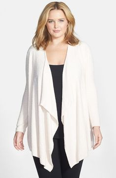 Free shipping and returns on Barefoot Dreams® 'Bamboo Chic' Drape Front Cardigan (Plus Size) (Nordstrom Exclusive) at Nordstrom.com. An ultrasoft open cardigan cut to a deliciously draped silhouette goes seamlessly from idle hours to afternoons out.