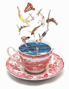 Lynn Skordal #collage #Tea #cup