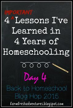 4 Important Lessons I've Learned From 4 Years of Homeschooling