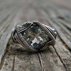 Sterling Silver wire wrapped Blue Topaz and by MineralSynergy, $445.00