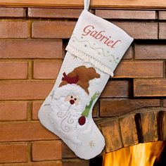 Personalized Winter Santa Stocking