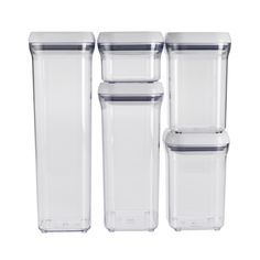 Amazon.com: OXO Good Grips 5-Piece POP Container Set, White: Kitchen Storage And Organization Product Sets: Kitchen & Dining