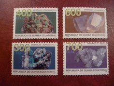 Minerales serie 4 sellos Republica de Guinea Ecuatorial