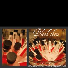 blood shots labeled with blood type