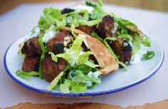 Recipe for grilled lamb meatballs in pita pockets - Food & dining - The Boston Globe Ground Lamb Recipes, Pita Pockets, Lamb Meatballs, Grilled Lamb, Feeding A Crowd, Entrees, Main Dishes, Grilling, Pork