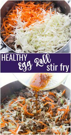 Healthy Egg Roll Stir Fry Recipe - Family Fresh Meals