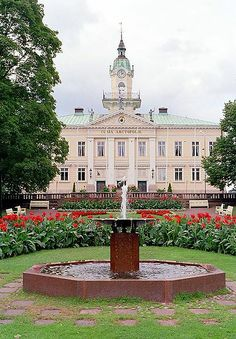 The old Town hall of Pori, Finland. Built in Architect: Carl Ludvig Engel. Helsinki, Places Around The World, Around The Worlds, Western Coast, Scandinavian Countries, Kingdom Come, Baltic Sea, Town Hall, Great Pictures