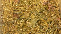 Green beans stewed with ham hocks