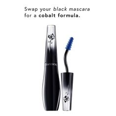 Try a cobalt mascara to give an unexpected pop to your lashes