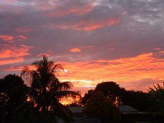 Sunset over Praslin by Chez Marlin