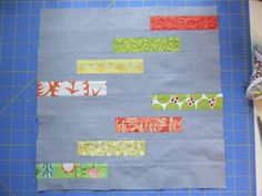 Double staircase quilt block tutorial: finish