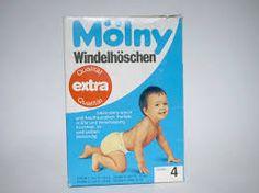 """Diese Packung Mölny Windelhöschen """"Extra"""" Größe 4 und gelbe Gummihosefolie. Auch heute gibt nicht mehr!"""