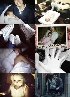 Lux and Haz ❤<<< Isn't that one picture of Lux asleep in a onesie with Louis and not harry??