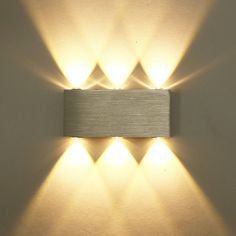 Design 6W LED Wandleuchte Wandlampe Flurlampe Wandstrahler Warmweiß Alu. DHL in Möbel & Wohnen, Beleuchtung, Wandleuchten | eBay!