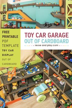 Toy Car Display Garage FREE Sketches   Reuse and Play