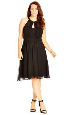 8d18afe7e53 City Chic Plus Size Halter Lace Fit   Flare Dress Plus Sizes - Dresses -  Macy s