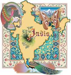 India Map, by Eve Stecatti* to remember all my beautiful experiences there & go once again-
