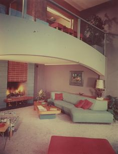 - Mid Century Modern home interior (Richard Spencer) - (vintage lady, space age, atomic era, the sixties, decor)l Mid Century Modern Decor, Mid Century Design, Sala Vintage, Mid-century Interior, 1950s Interior, Botanical Interior, Retro Interior Design, Pastel Interior, Interior Colors