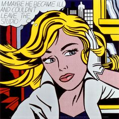 M-Maybe, c.1965 by Roy Lichtenstein. Art print from Art.com.