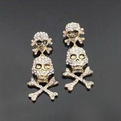 Awesome skull earrings!