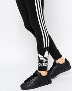 Adidas   adidas Originals 3 Stripe Leggings at ASOS