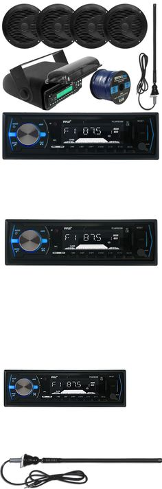 marine audio boss audio 500w 4 ch amplifier bluetooth 2 speakers marine audio pyle bluetooth usb marine radio 6 5speakers and wiring antenna