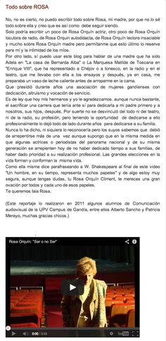 Todo sobre ROSA. Puedes ver el vídeo aquí: http://elblogdegemahernandez.blogspot.com.es/2012/10/todo-sobre-rosa_26.html