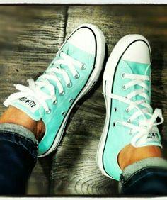 Cute cyan sneakers