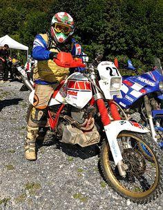 Yamaha Xt 600, Rallye Raid, Motorcycle Luggage, Dirt Bikes, Old Skool, Custom Bikes, Motorbikes, Offroad, Honda
